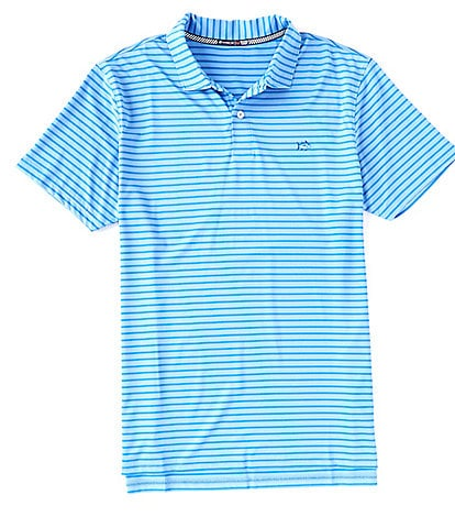 Southern Tide First Mate Performance Stripe Short-Sleeve Polo Shirt
