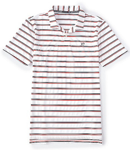 Southern Tide First Mate Stripe Performance Short-Sleeve Polo Shirt
