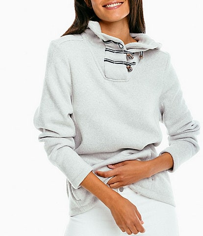 Southern Tide Fleece Long Sleeve Midweight Hooded Lizzie Pullover