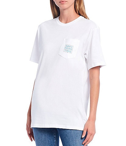 Southern Tide Floral Print Stacked Letter Logo Short Sleeve Knit Tee