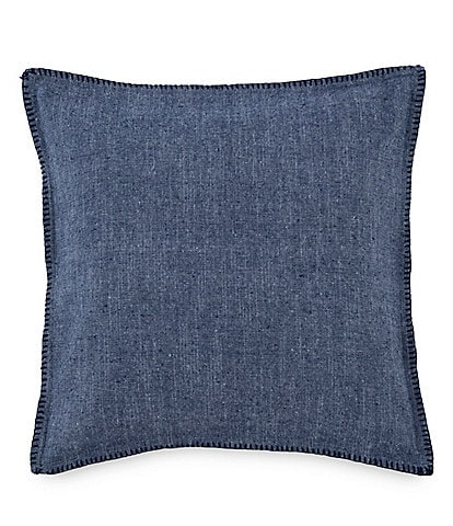 Southern Tide Folly Beach Chambray Whipstitch Square Pillow