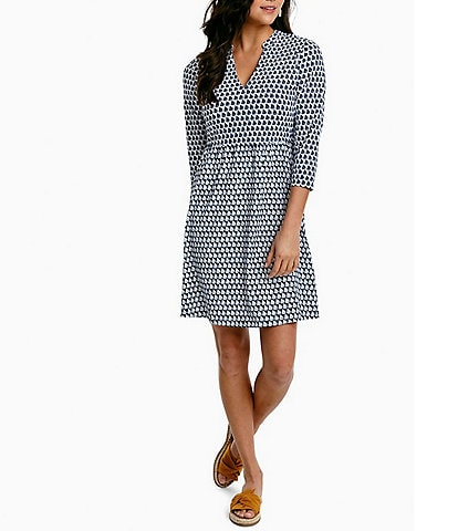 Southern Tide Fran Sailboat Printed Quick Dry Stretch Performance Dress
