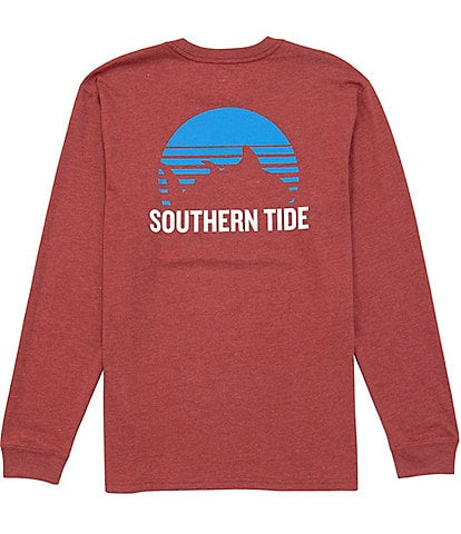 Southern Tide Gradient Skipjack Sunset Heather Long-Sleeve Tee