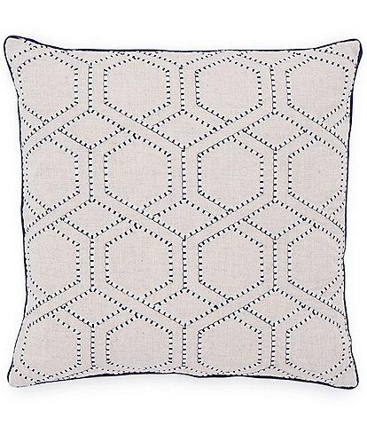 Southern Tide Harbor Geo Square Decorative Pillow