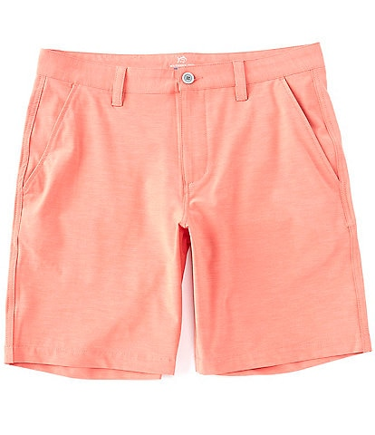 Southern Tide Heathered T3 Flat-Front 9#double; Inseam Gulf Shorts
