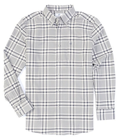 Southern Tide Intercoastal Flannel Char Plaid Performance Stretch Long-Sleeve Woven Shirt