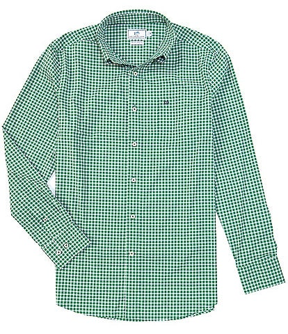 Southern Tide Intercoastal Guarded Gingham Long-Sleeve Woven Shirt