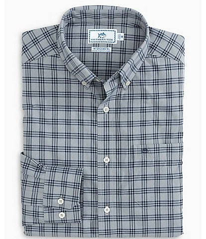 Southern Tide Intercoastal Heather Check Long-Sleeve Woven Shirt