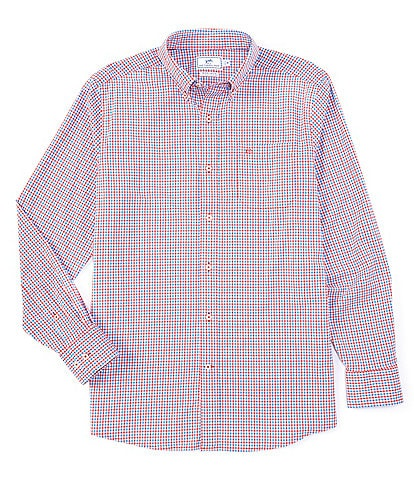 Southern Tide Intercoastal Leeway Gingham Long-Sleeve Woven Shirt