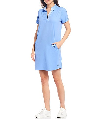 Southern Tide Kamryn Brrr® Knit Popover Shirtdress