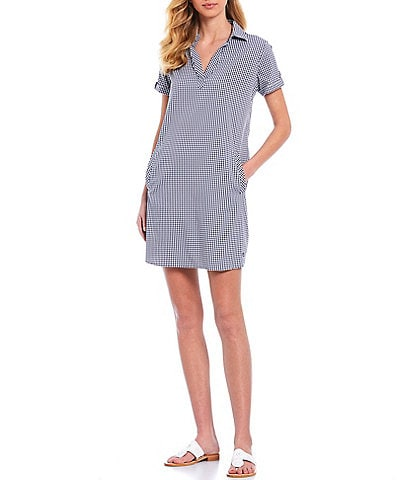 Southern Tide Kamryn Brrr® V-Neck Short Sleeve Shirt Dress