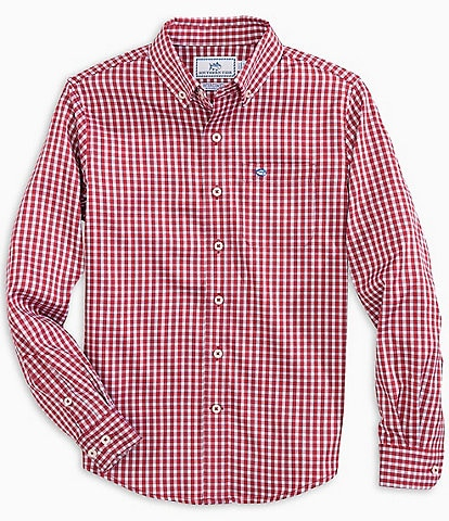 Southern Tide Little/Big Boys 4-16 Long-Sleeve Intercoastal Gingham Sport Shirt