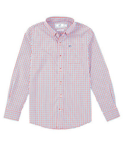 Southern Tide Little/Big Boys 4-16 Long-Sleeve Leeway Gingham Intercoastal Sport Shirt