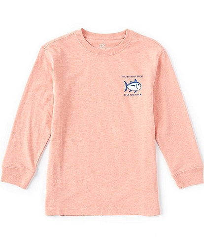 Southern Tide Little/Big Boys 4-20 Long -Sleeve Heathered Original Skipjack Tee