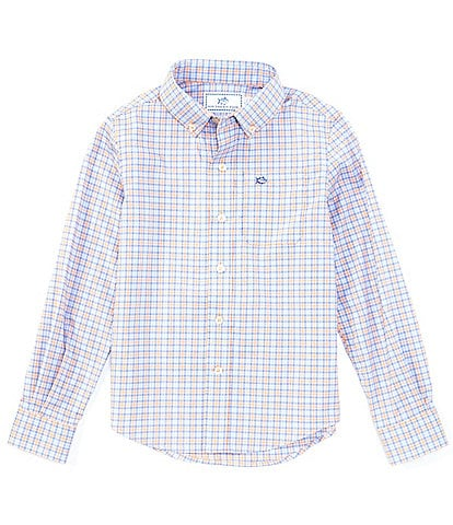 Southern Tide Little/Big Boys 4-20 Long-Sleeve Intercoastal Agate Sport Shirt