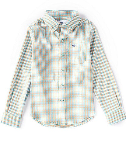 Southern Tide Little/Big Boys 4-20 Long-Sleeve Intercoastal Tattersall Sport Shirt