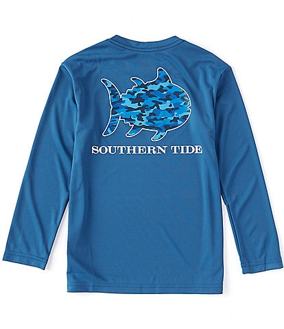 Southern Tide Little/Big Boys 8-20 Long-Sleeve Performance Camo Skipjack Tee