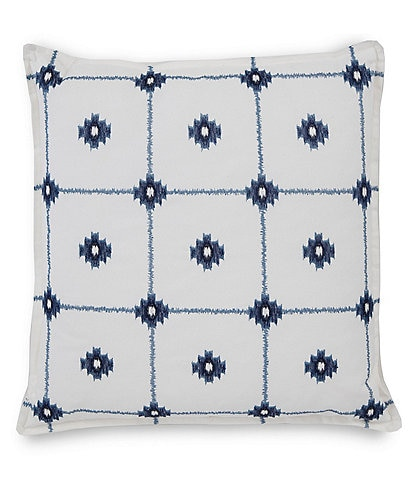 Southern Tide Ocean Gate Geo Embroidered Decorative Pillow