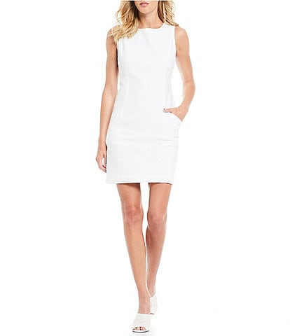 Southern Tide Paislee Seersucker Sleeveless Sheath Dress