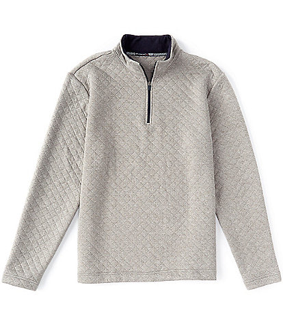 Southern Tide Quay Quilt Quarter-Zip Pullover