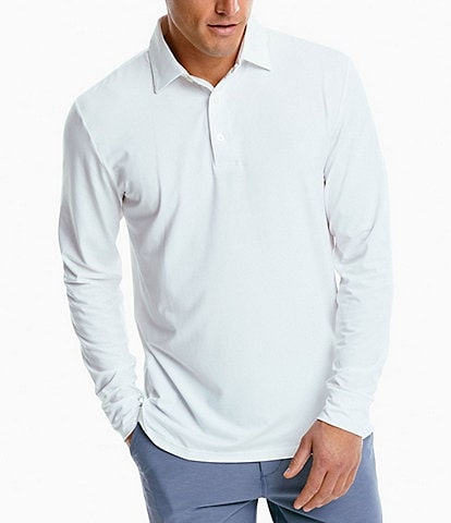 Southern Tide Ryder Performance Stretch Long-Sleeve Polo Shirt