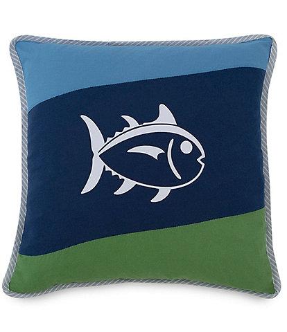 Southern Tide Sailor Stripe Skipjack Square Throw Pillow
