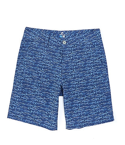 Southern Tide T3 Gulf Fish Print Stretch 9#double; Inseam Shorts