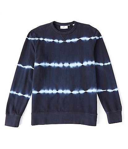 Southern Tide Upper Deck Tie Dye Stripe Long-Sleeve Sweatshirt
