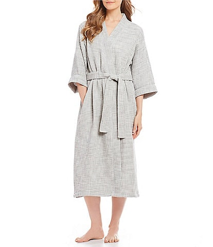 SPA Essentials by Sleep Sense Waffle-Knit Short Wrap Robe