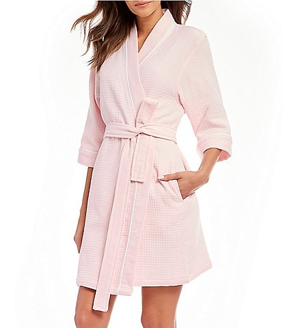 Spa Essentials by Sleep Sense Waffle Short Wrap Robe