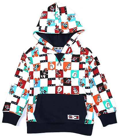 Tommy Hilfiger X Space Jam: New Legacy Little Boys 2T-7 Character Check Pullover Hoodie