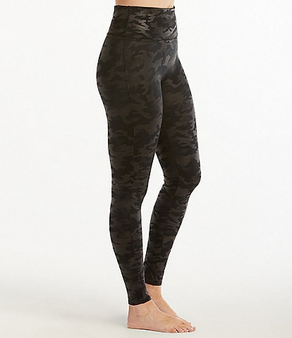 0d915fe4603e1 Spanx Faux Leather Camo Leather Leggings