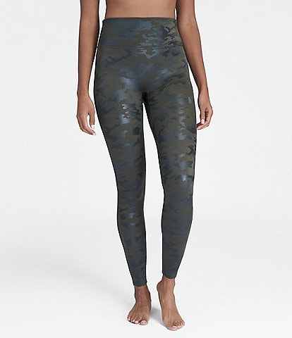 Spanx Faux Leather Camo Leather Leggings