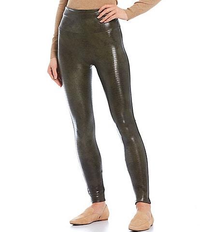 Spanx Vegan Leather Croc Shine Leggings