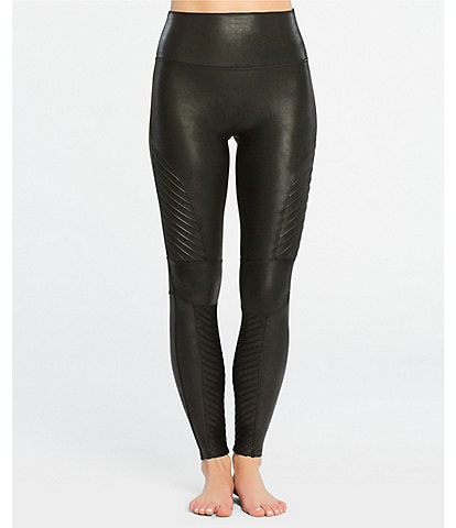 Spanx Faux-Leather Moto Leggings
