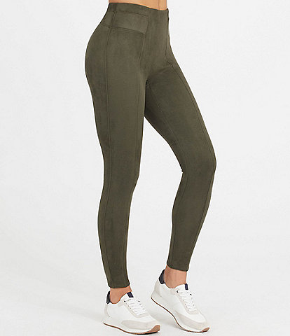 Spanx Faux Suede High Rise Pull-On Leggings