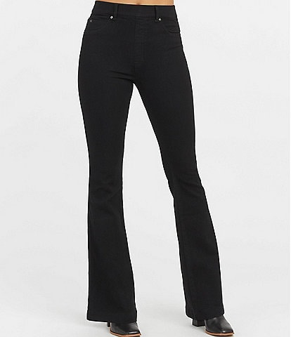 Spanx Flare Pull-On High Rise Stretch Jeans