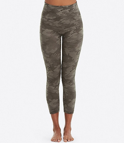 Spanx Look At Me Now Camo Cropped Shaping Leggings