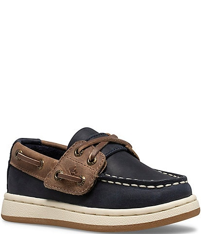 Sperry Boys' Sperry Cup II Leather Jr Boat Shoes (Toddler)
