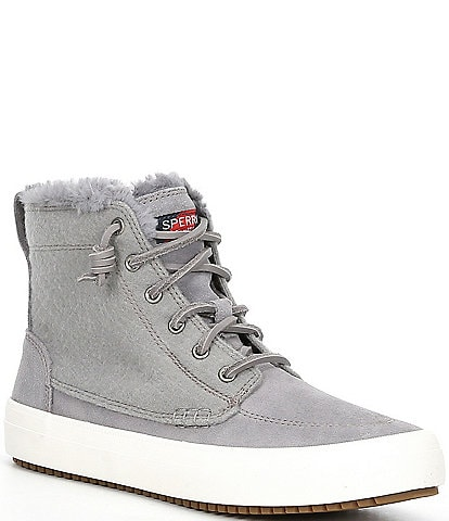 Sperry Crest Lug Faux Fur Lace-Up High Top Sneakers