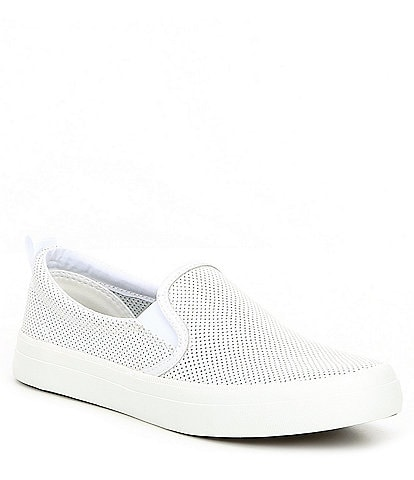 Sperry Crest Twin Gore Mini Perforated Leather Slip-On Sneakers