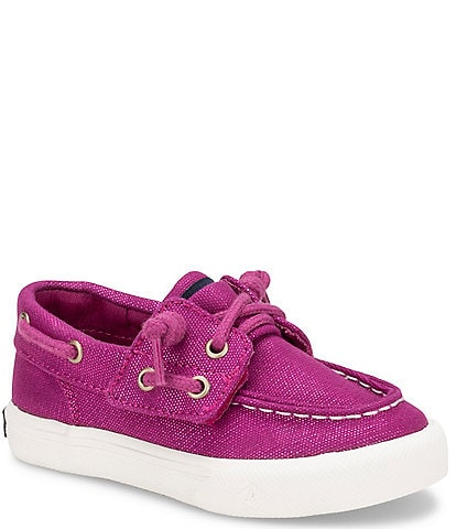 Sperry Girls' Bahama Jr Shimmer Canvas Sneakers (Toddler)