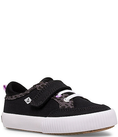 Sperry Girls' Covetide Jr Washable Animal Print Detail Canvas Sneakers (Toddler)