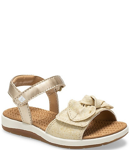 Sperry Girls' Galley Bow Sandals Infant