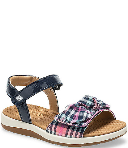 Sperry Girls' Galley Plaid Sandals Toddler