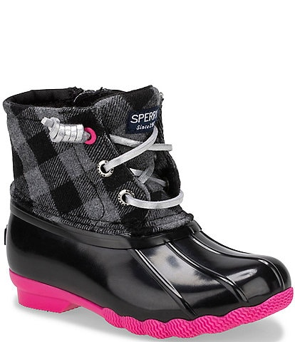 Sperry Girls' Saltwater Checked Wool Winter Boots (Infant)