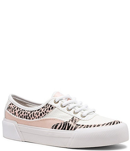 Sperry Girl's Soletide Animal Print Lace-Up Sneakers (Youth)