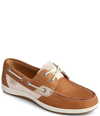 Sperry Koifish Leather & Seersucker Stripe Boat Shoes