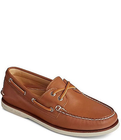 Sperry Men's Gold Authentic Original 2-Eye Glove Leather Boat Shoes