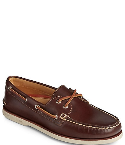 Sperry Men's Gold Authentic Original 2-Eye Leather Boat Shoes